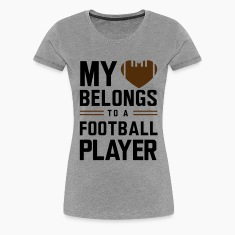 My heart belongs to a football player Women's T-Shirts
