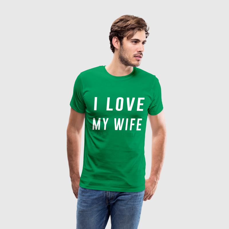 I love when my wife let's me play golf T-Shirts - Men's Premium T-Shirt