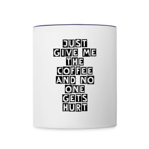 disgruntled coffee mug - Contrast Coffee Mug