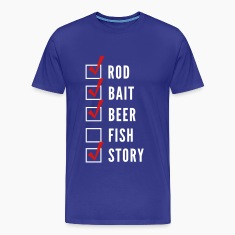 Funny Fishing Checklist T-Shirts