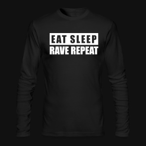 EAT SLEEP RAVE REPEAT - Men's Long Sleeve T-Shirt by Next Level