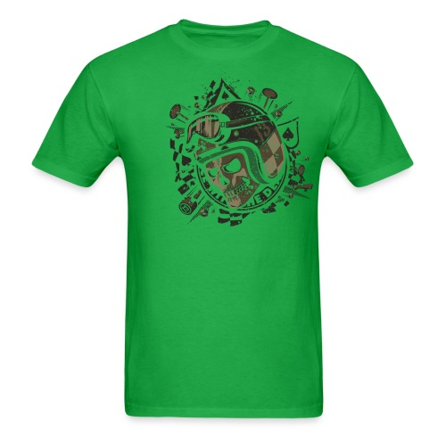 Race With The Death Skull Graphic T-Shirt - Men's T-Shirt