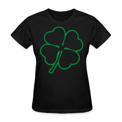 Irish 4 Leaf Clover Graphic T-Shirt - Women's T-Shirt