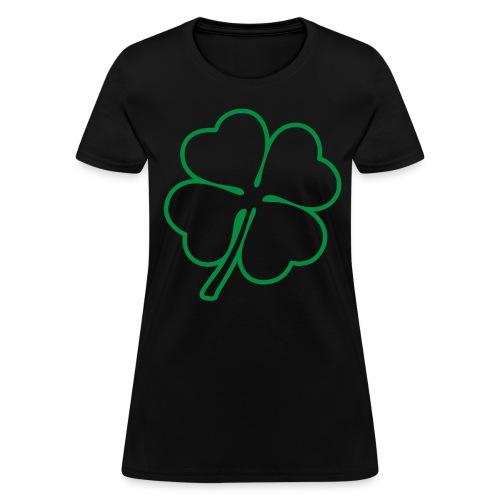 Irish 4 Leaf Clover Graphic T-Shirt - Women's T-Shirt