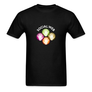 socialweb_men_black_shirt - Men's T-Shirt