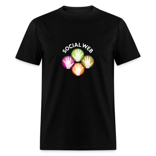 socialweb_men_black_shirt - Men's T-Shirt