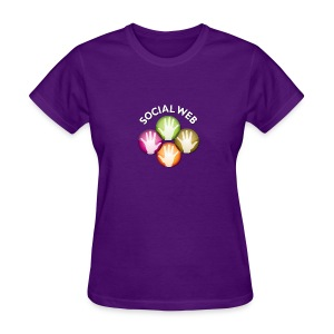socialweb_women_purple_shirt - Women's T-Shirt