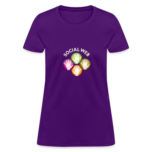 socialweb_women_purple_shirt - Women's T-Shirt