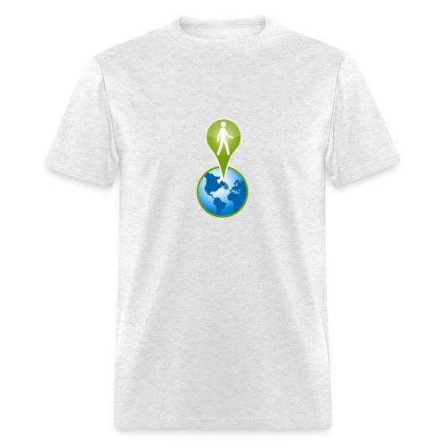 geo_men_grey_shirt - Men's T-Shirt