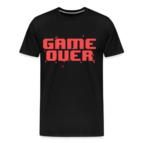 Game Over Pixel Text - Men's Premium T-Shirt