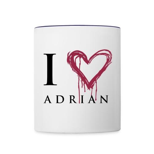 I heart Adrian - Contrast Coffee Mug