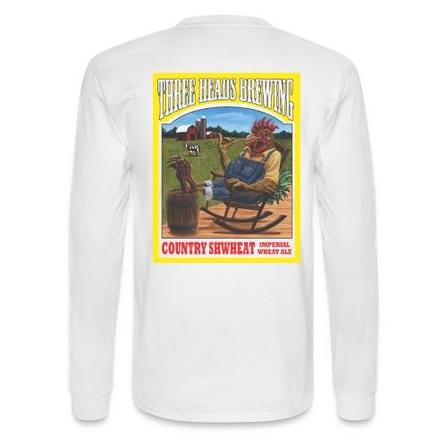 Country Shwheat - Black Logo - Men's Long Sleeve T-Shirt