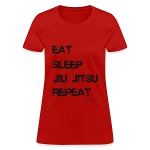 Eat Sleep Jiu Jitsu Repeat - bw - Women - Women's T-Shirt