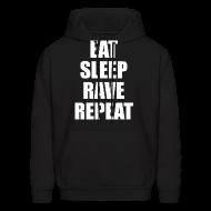 Hoodies ~ Men's Hoodie ~ Eat Sleep Rave Repeat Hoodie Hoody Sweatshirt