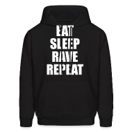 Hoodies ~ Men's Hoodie ~ Eat Sleep Rave Repeat Hoodie Hoody Sweatshirt