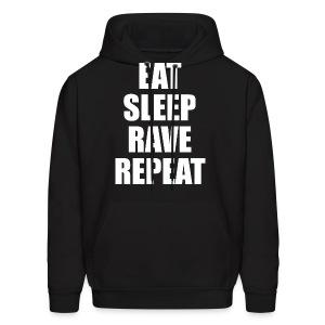 Eat Sleep Rave Repeat Hoodie Hoody Sweatshirt - Men's Hoodie