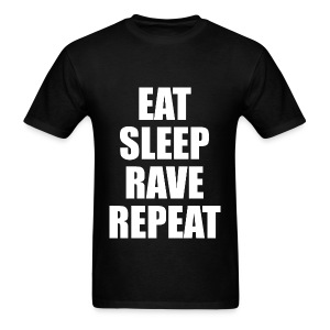 Eat Sleep Rave Repeat Lightweight T Shirt - Men's T-Shirt