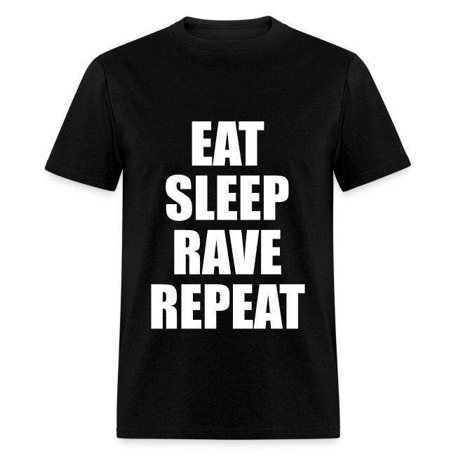 Eat Sleep Rave Repeat Lightweight T Shirt