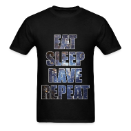 T-Shirts ~ Men's T-Shirt ~ Eat Sleep Rave Repeat Stars Lightweight T Shrit