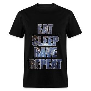 Eat Sleep Rave Repeat Stars Lightweight T Shrit - Men's T-Shirt