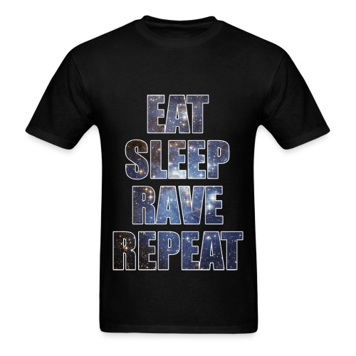 Eat Sleep Rave Repeat Stars Lightweight T Shrit - Men's T-Shirt