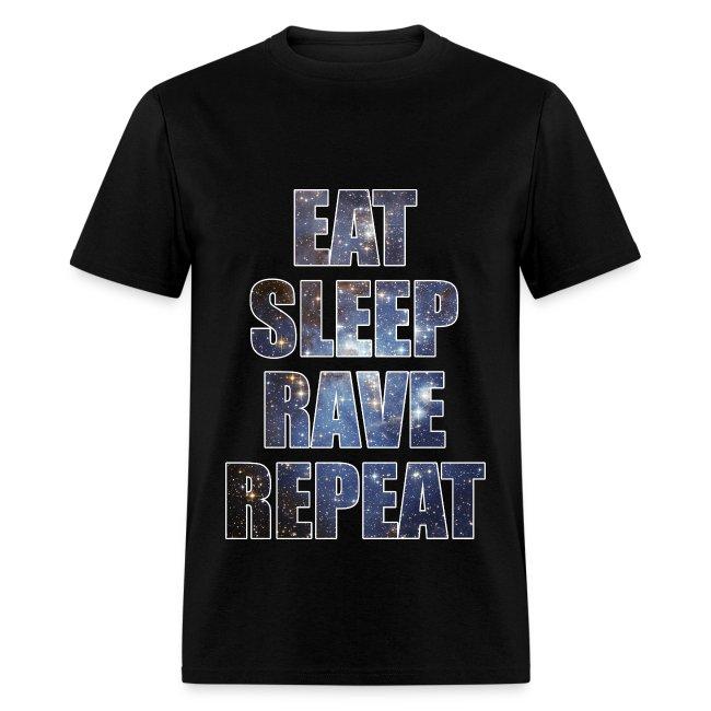 Eat Sleep Rave Repeat Stars Lightweight T Shrit