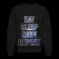 Long Sleeve Shirts ~ Crewneck Sweatshirt ~ Eat Sleep Rave Repeat Stars Crewneck Sweatshirt