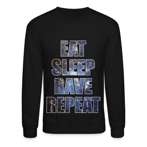 Eat Sleep Rave Repeat Stars Crewneck Sweatshirt - Crewneck Sweatshirt