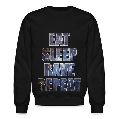 Eat Sleep Rave Repeat Stars Crewneck Sweatshirt - Crewneck Sweatshirt