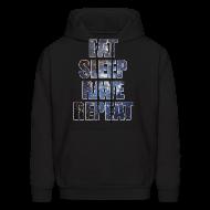 Hoodies ~ Men's Hoodie ~ Eat Sleep Rave Repeat Stars Hoodie Hoody Sweatshirt