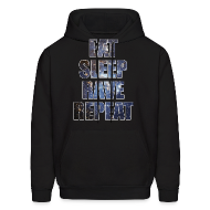 Hoodies ~ Men's Hoodie ~ Eat Sleep Rave Repeat Stars Hoodie Hoody Sweatshirt
