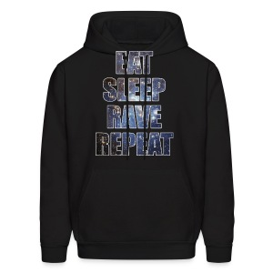 Eat Sleep Rave Repeat Stars Hoodie Hoody Sweatshirt - Men's Hoodie