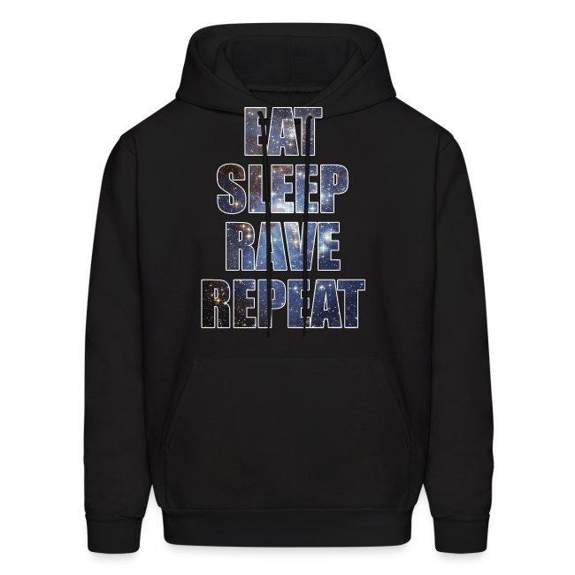 Eat Sleep Rave Repeat Stars Hoodie Hoody Sweatshirt