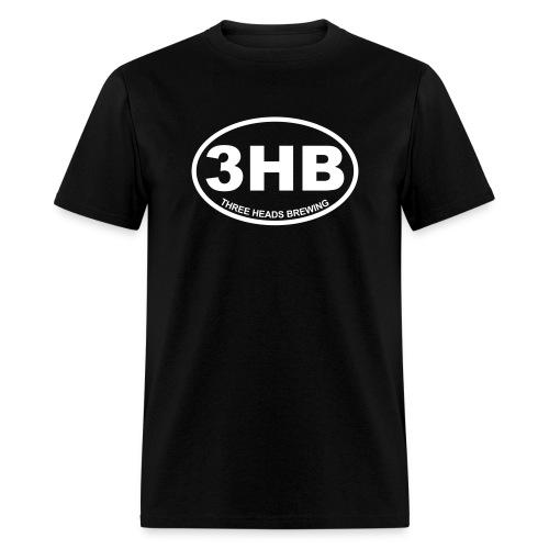 3HB Logo - White - Men's T-Shirt
