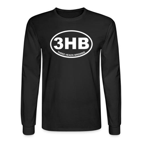 3HB Logo - White - Men's Long Sleeve T-Shirt
