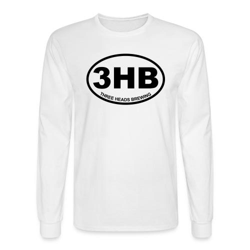 3HB Logo - Black - Men's Long Sleeve T-Shirt