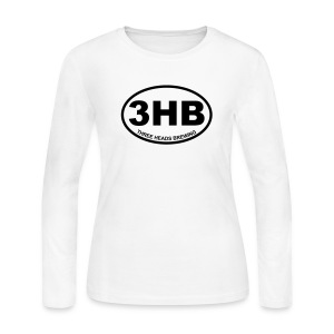 3HB Logo - Black - Women's Long Sleeve Jersey T-Shirt