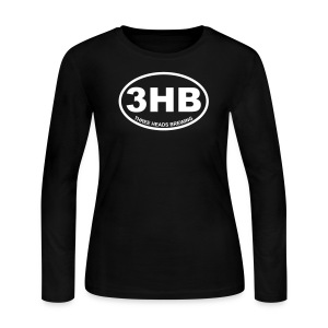 3HB Logo - White - Women's Long Sleeve Jersey T-Shirt
