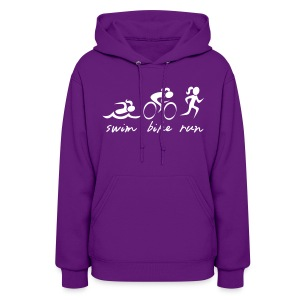 Swim Bike Run Tri Girl - Women's Hoodie