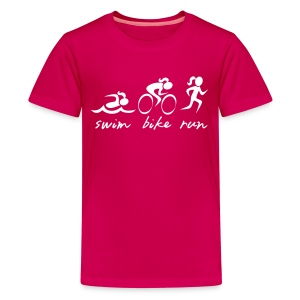 Swim Bike Run Tri Girl - Kids' Premium T-Shirt
