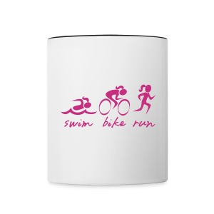 Swim Bike Run Tri Girl - Contrast Coffee Mug