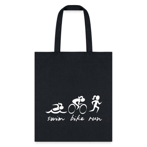 Swim Bike Run Tri Girl - Tote Bag