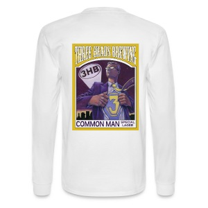 Common Man - Black Logo - Men's Long Sleeve T-Shirt