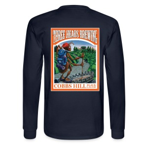 Cobbs Hill - White Logo - Men's Long Sleeve T-Shirt