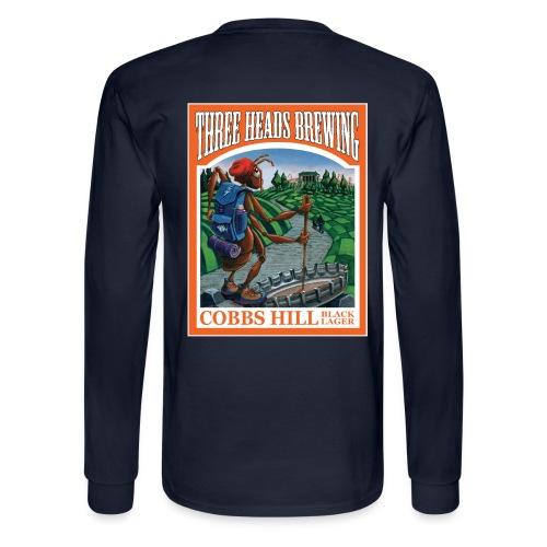 Cobbs Hill - White Logo - Men's Long Sleeve T-Shirt