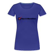 T-Shirts ~ Women's Premium T-Shirt ~ WOMENS RUNNING T SHIRT - RUN MARATHON CHECK