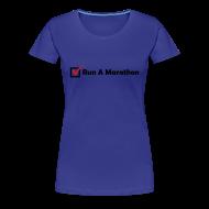 Women's T-Shirts ~ Women's Premium T-Shirt ~ WOMENS RUNNING T SHIRT - RUN MARATHON CHECK