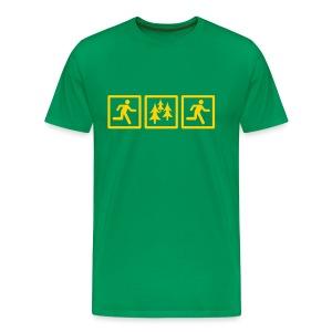 MENS RUNNING T SHIRT - RUN FOREST RUN - Men's Premium T-Shirt