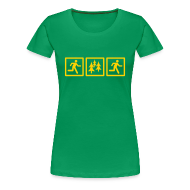 T-Shirts ~ Women's Premium T-Shirt ~ WOMENS RUNNING T SHIRT - RUN FOREST RUN