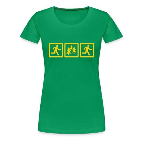 WOMENS RUNNING T SHIRT - RUN FOREST RUN - Women's Premium T-Shirt